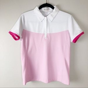 NIKE | Pink FitDry Golf Polo T-Shirt Size Medium